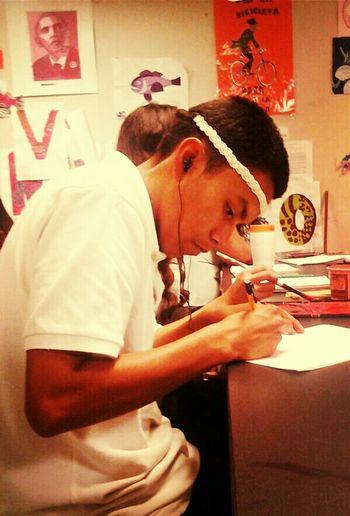 Rodrigo Being A Fag Withe A Headband!!