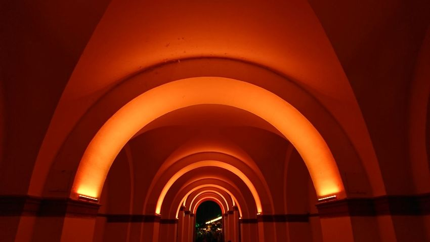 Arch Built Structure Illuminated Architecture Architectural Column Bogen Beleuchtet LED Led Lights  Illumination Architectural Detail Architecture_collection Nofilter Noedit Pattern Muster Tunnel Tunnel View Tunnel Vision Looking To The Other Side Light At The End Of The Tunnel Architectureporn Germersheim Hello World Perspective The Architect - 2017 EyeEm Awards EyeEm Selects