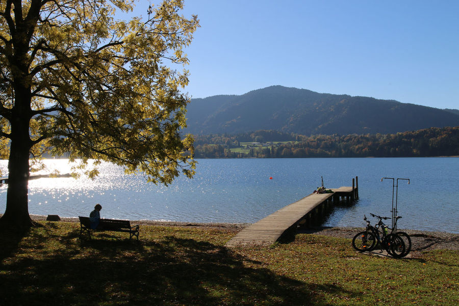Tegernsee, Bad Wiessee Beauty In Nature Canon Clear Sky Day Growth Lake Mode Of Transport Mountain Nature Nautical Vessel No People Outdoors Scenics Sky Tranquil Scene Tranquility Transportation Tree Water