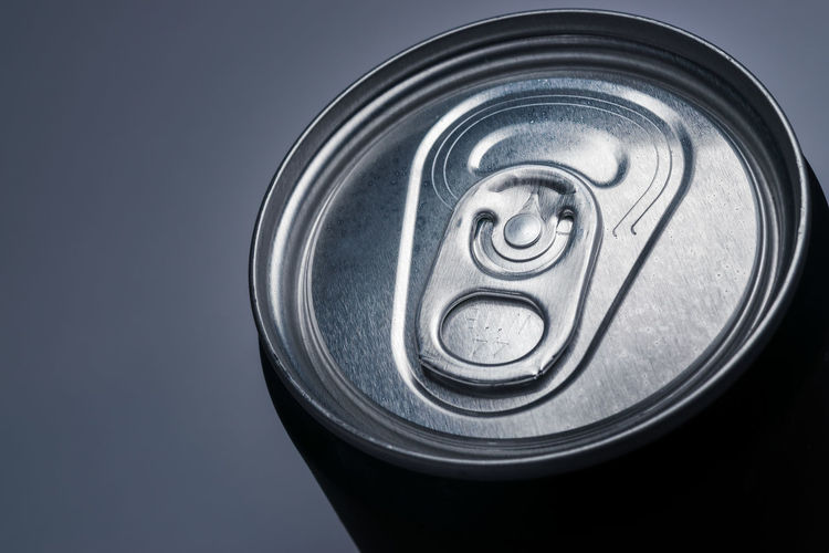 Can Studio Shot Lid Metal Circle Close-up Drink Can Soda Tin Condensation Cola Aluminum Canned Food Frothy Drink Drinking Straw
