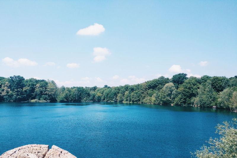 Opfinger See in Freiburg Blue Cloud Cloud - Sky Freiburg Friburgo GERMANY🇩🇪DEUTSCHERLAND@ Lake Nature Opfinger See Sky Tranquility Tree Water