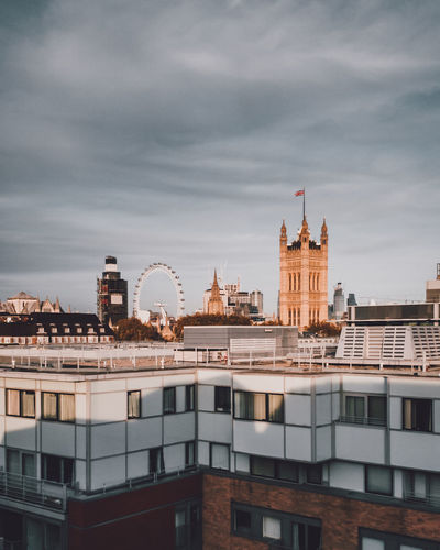 Cityscape Building Exterior Built Structure Architecture City Sky Cloud - Sky Building No People Nature Travel Destinations Day Cityscape Tower Outdoors Residential District Travel City Life Tourism Government London Cityscape LONDON❤