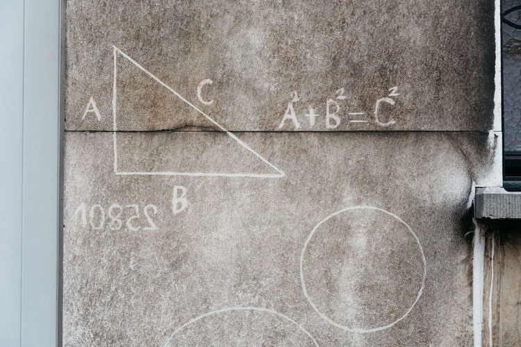 Math signs on an city wall in Antwerp, Belgium Algebra Close-up Day Equation Equations Geometric Abstraction Geometry Mathematics Maths Maths Class No People Pi Number Science Street Student Life Urban Urban Geometry