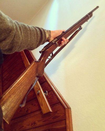 Riffle Weapon Hunting Hunter Familienerbstück Uropas Gewehr