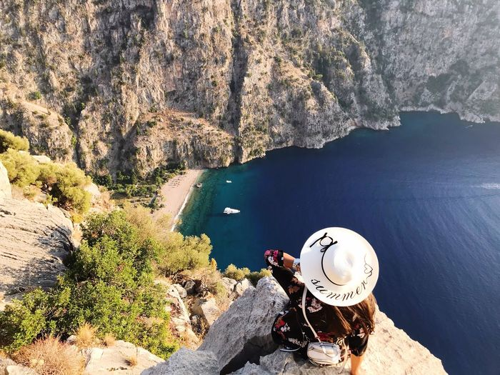 Vacation in the butterfly valley, Oludeniz, Turkey. Summer Water Nature High Angle View Sea Beauty In Nature Sunlight Rock Outdoors Day EyeEmNewHere