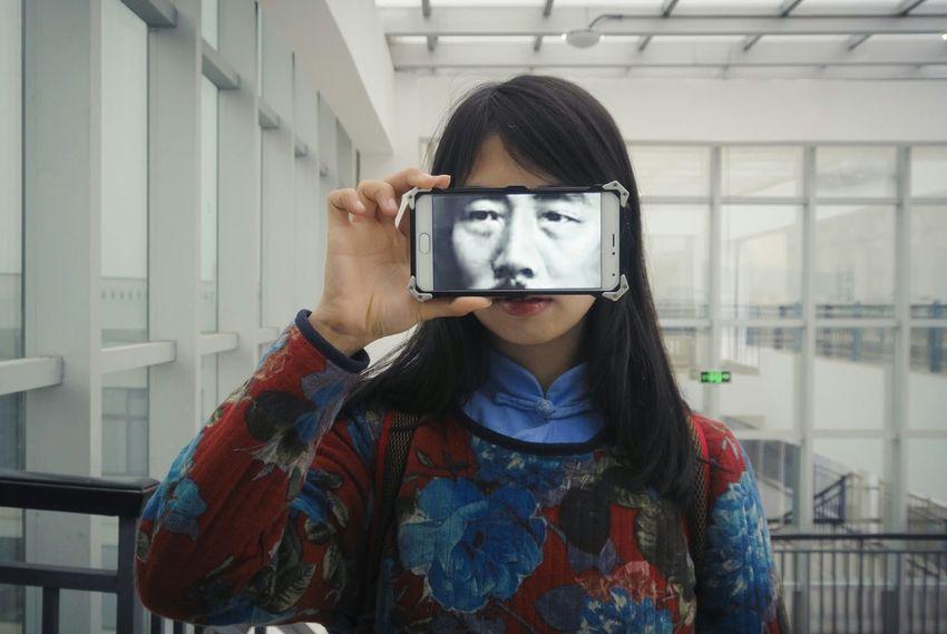 face of 鲁迅 Girl Human Friend Classmate University Life My Student Life Face Phone Screen ♥