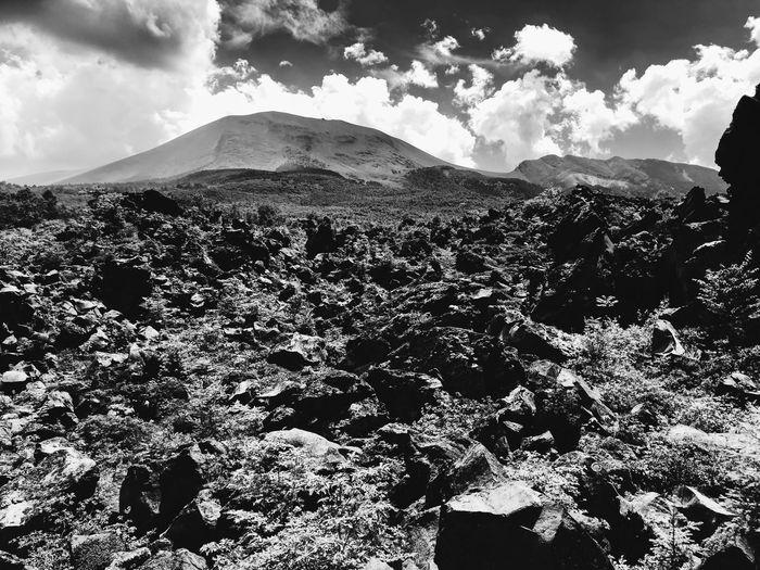 EyeEmNewHere Blackandwhite IPhoneX Japan Nature Volcanic Landscape Volcano Rock Sky 鬼押出し園 Landscape Sunlight