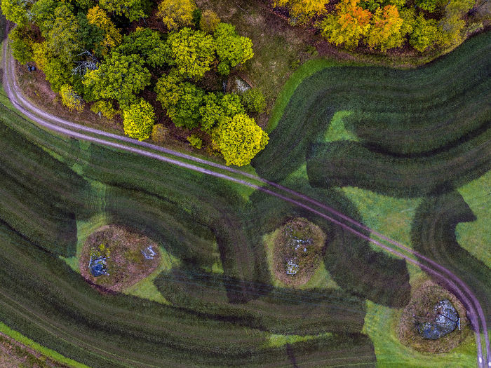 The Road Aerial Shot Aerial View Autumn Autumn Colors Day Drone  Dronephotography Fall Fall Colors Freshness Green Color Landscape No People Sweden Trees Fresh On Market 2016