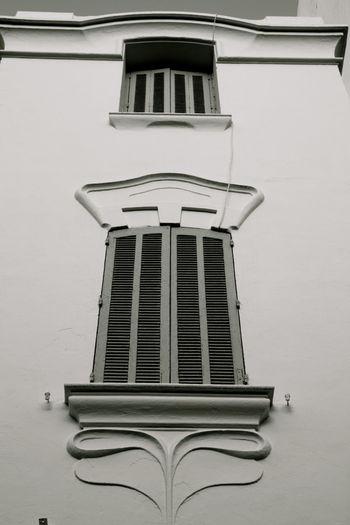 Architectural Detail Architecture Art Nouveau Style Avenue De La Liberté Black And White Liberty Monochrome No People Tunis Ville Nouvelle Window