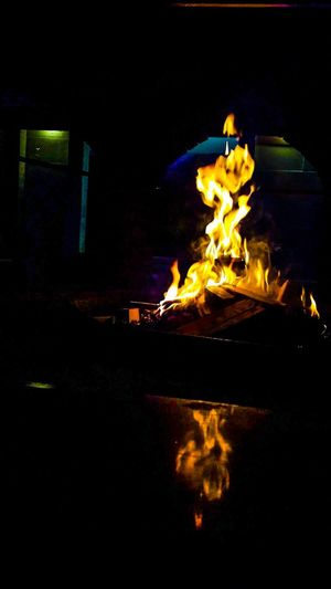 Flame Night Burning Heat - Temperature Glowing No People Outdoors Bonfire Illuminated Close-up Fire Pit