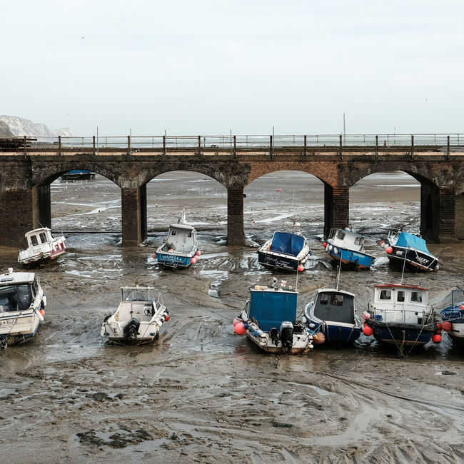 Boat Boats Boats⛵️ Bridge Coast England England, UK England🇬🇧 Geometry Harbour Low Tide Marée Basse Mer Sea Tide Uk