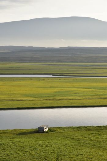 North of Iceland Landscape Grass Tranquil Scene Agriculture Farm Green Color Tranquility Rural Scene Scenics Land Vehicle Travel Field Growth Mountain Beauty In Nature Mode Of Transport Cultivated Land Harvesting Crop  Mountain Range Iceland River Riverside