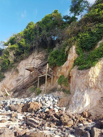 Wood stairway