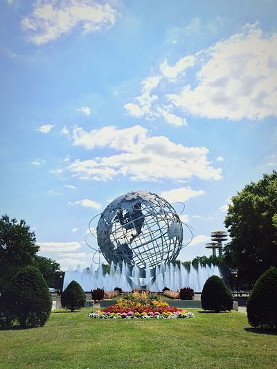 Unisphere Public Art Fountains Open Edit New York City Enjoying The View Flowers Landscape