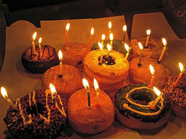Happy birthday HappyBirthday Candles Eye4photography  EyeEm Best Shots EyeEm Gallery EyeEm First Eyeem Photo Donuts Dunkin Donuts
