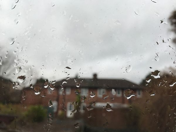 London Rain Window Weather Looking Through Window No People
