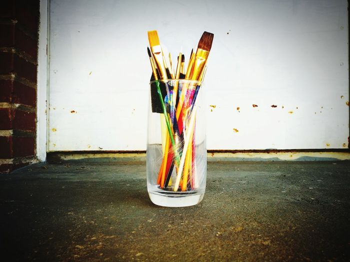 Multi Colored No People Day Indoors  Art Pinsel Draw Drawing Drawings Malen Brush Brushes Colour Your Horizn