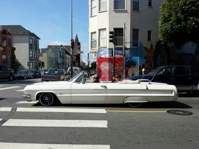 San Francisco 24th Street  Low Rider  Mission District 1964 Impala Chevrolet Sunday Afternoon Street Photography Classic Cars