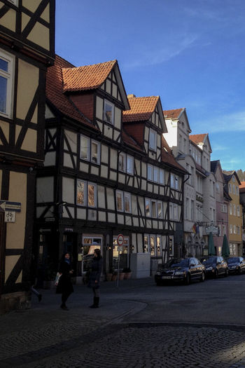 43 Golden Moments Day Deutschland Germany GERMANY🇩🇪DEUTSCHERLAND@ Hann. Münden No People Outdoors Sky Taking Photos Timbered House Traveling