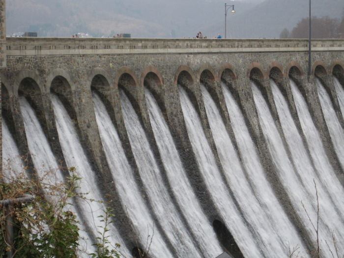 Edersee Sperrmauer Architecture Concrete Dam Edersee Germany Flowing Water Hydroelectric Power Overfall Power In Nature Water Überlauf