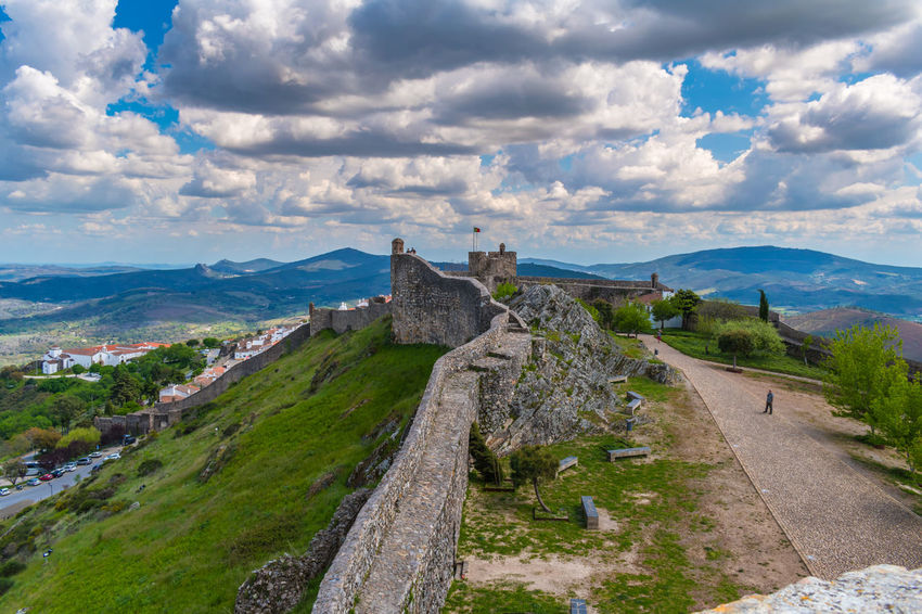 Castelo de Marvão Castle Castles Cloudscape Land Landscape_Collection Sky And Clouds Wall Castle Ruin Castles In The Sky Cloud - Sky Clouds & Sky Clouds And Sky Clouds And Sky Colors Landscape Landscape_photography Sky Sky_collection Walls