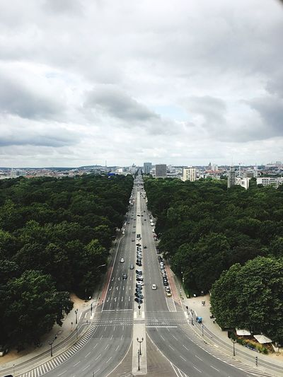 We made it to the top of Siegessäule  Berlin Sky City Cityscape Clouds Trees Tiergarten