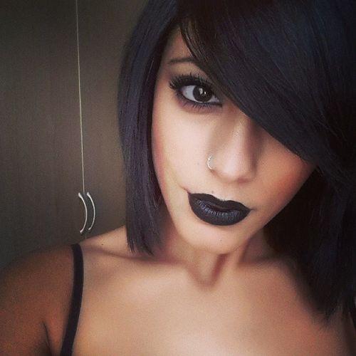 Blacklipstick Naturalblackhair NaturalLashes Makeup arab