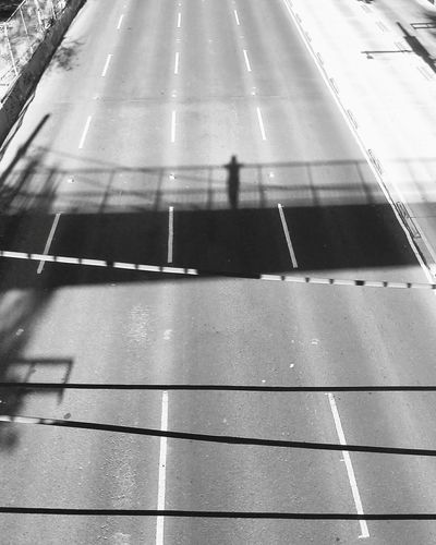 No People Street Bridge Lonely Road Lonely Person Cdmx Black And White