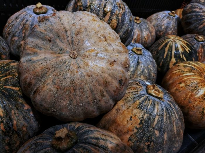 Full frame shot of pumpkins at market for sale