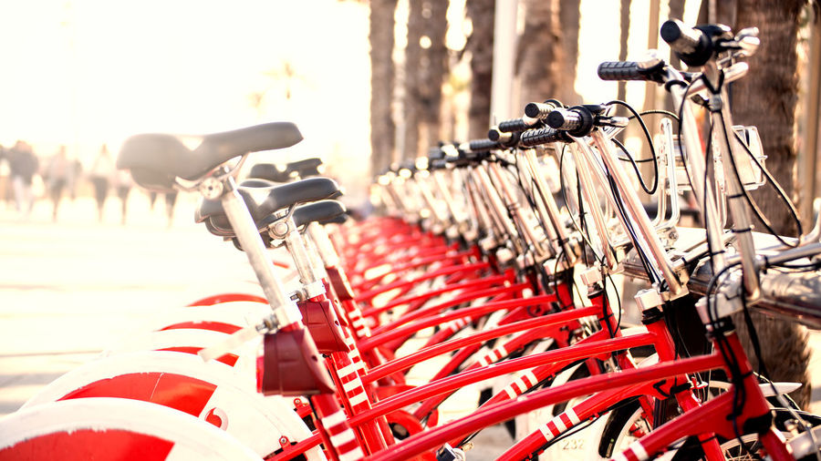 To go City Red Bicycle In A Row Sport Close-up Love Lock Bicycle Rack Foldable Barbed Wire Parking Lock Faith Folding Chair Stationary Razor Wire Keyhole Scooter Padlock Hand Fan Motor Scooter Latch Vintage Car Safe Parking Lot Locked Rickshaw Hope Barricade Land Vehicle