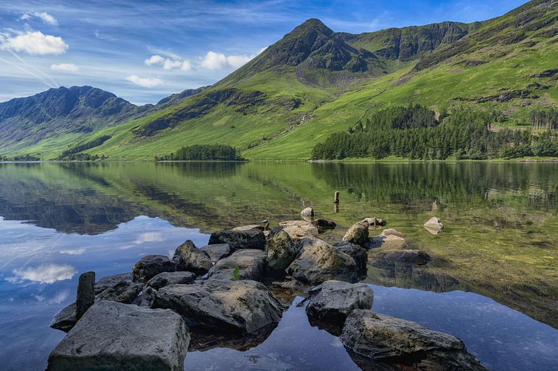 Beautiful Peaceful Day At Buttermere Beauty In Nature Cloud - Sky Day Lake Malephotographerofthemonth Mountain Mountain Range Nature No People Outdoors Reflection Rock - Object Scenics Sky Tranquil Scene Tranquility Water
