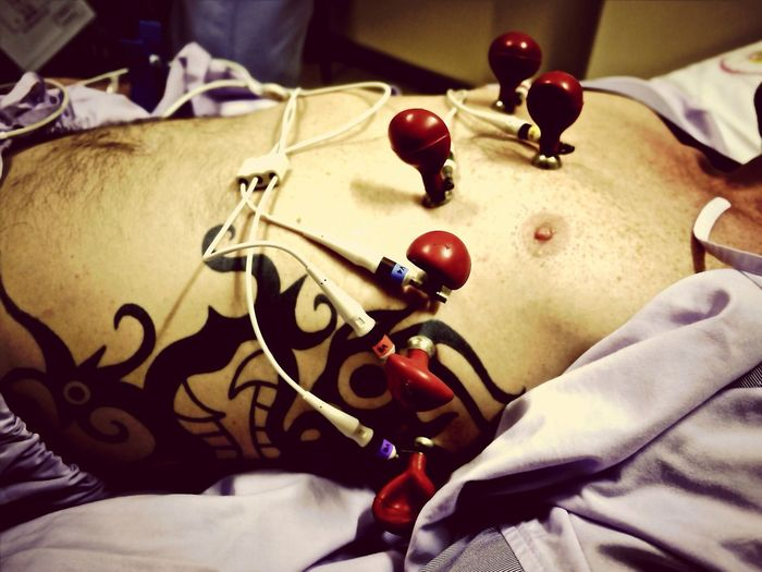 Hospital ECG Tattoo Self Portrait