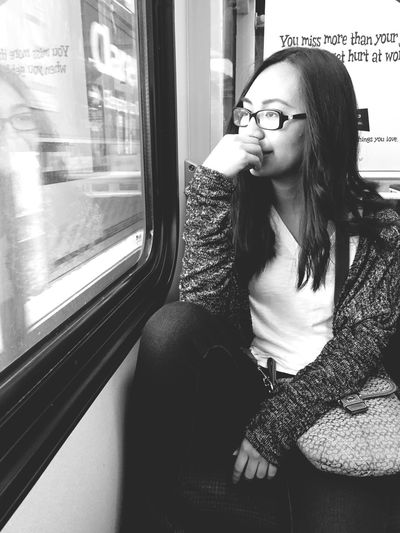 Featuring one of my best friends: Lely 👯💕 On The Move Peoplephotography Portrait Train Blackandwhite Light And Shadow