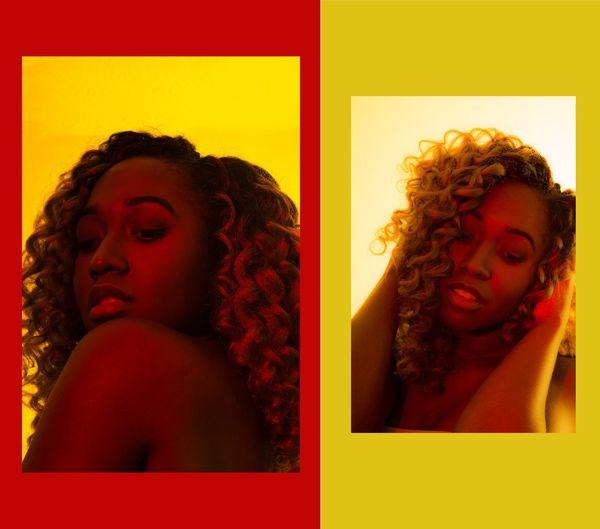 Young Women Portrait Beautiful Woman Beauty Curly Hair Yellow Human Face Beautiful People Red Women