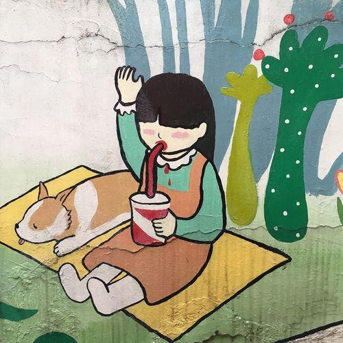 Painting Day No People Outdoors Korea South Korea Sang An Village Seoul, Korea