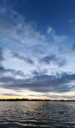 Vertically panoramic Vertical Panoramic Lake Elizabeth Fremont Sky Water Cloud - Sky Scenics - Nature Nature Tranquility Beauty In Nature Sunset Tranquil Scene