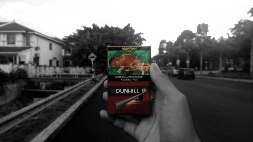 Dont smoke Smoking Kills Smoking Cigarettes. Dunhill Cigarettes Shoot2kill Exploring Nature Shoot The Street With Pointer Footwear City Life Capture Freedom Photographic Memory Symmetricalmonsters Teenagephotographer Transportation Text Western Script Communication Mode Of Transport Focus On Foreground Land Vehicle Street Car Outdoors Person Holding Symbol Sky