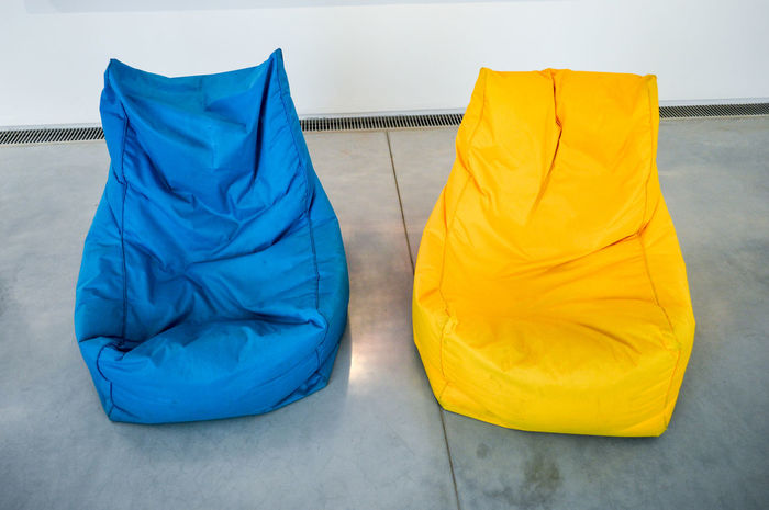 EyeEm Selects Multicolored Blue Yellow Contrast Contrasting Colors Sitting Chairs Textile Fashion Indoors  No People Relax Chill Out Chillout Zone Lifestyles Simplicity Interior Style Interior Views Interior Design Room Decor Minimal Minimalism The Week On EyeEm Paint The Town Yellow