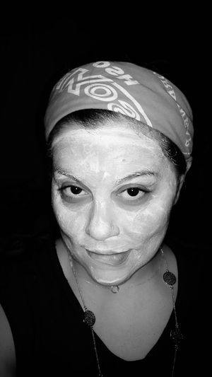 Taking Photos Female Facial Experiments Facial Mask Refection That's Me Black And White Photography Contrast Black And White Pain And Beauty Self Portrait