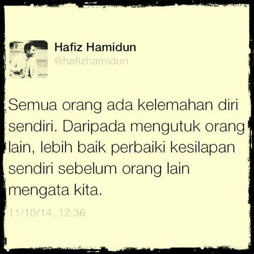 @hafizhamidun Repost Renungan Weekend