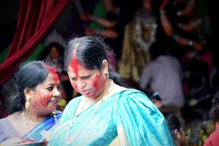 Traditional Clothing Religion Happiness Togetherness Adult Smiling Two People Celebration Lifestyles Indianphotography Indian Culture  Selective Focus EyeEm Best Shots - People + Portrait Adult Occasional Photography Traditional Festival Festival
