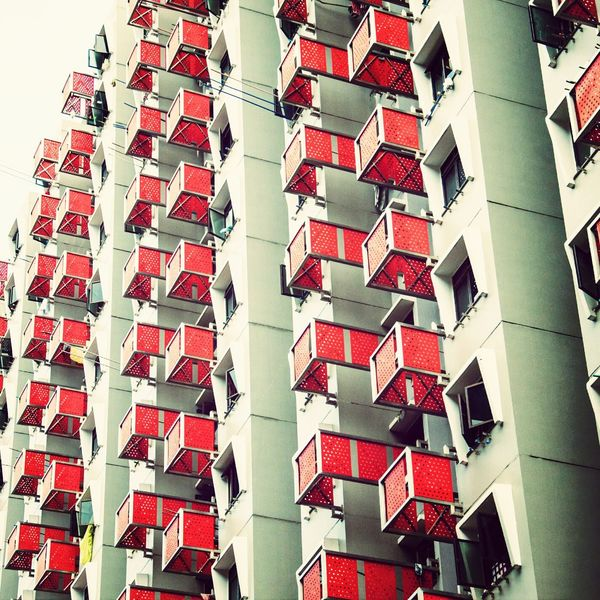 Repetition of the Red Boxes Architecture Singapore