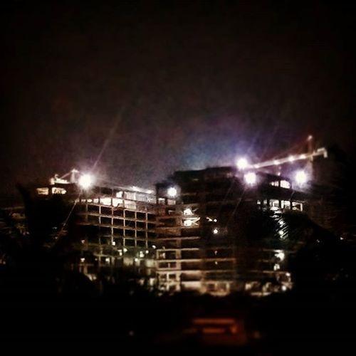 Nightview Rooftop Construction Taramani Tidelpark Chennai Lonleytime