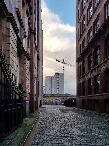 Manchester Street Gap Cityscape Sunset Built Structure Building Exterior City Architecture Low Angle View