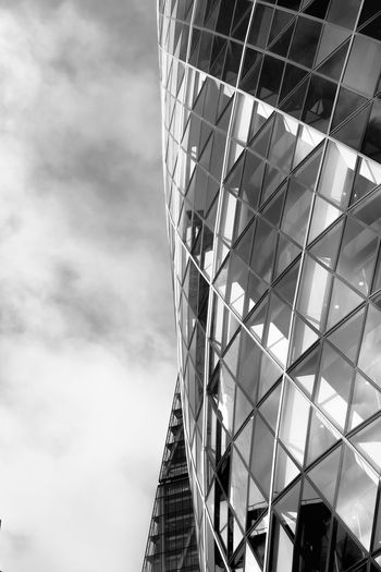 30 St Mary Axe Built Structure Building Exterior Architecture Low Angle View Building Cloud - Sky Sky Office Day City No People Nature Modern Office Building Exterior Outdoors Pattern Glass - Material Skyscraper Tall - High Norman Foster 30 St Mary Axe Blackandwhite Bw_collection Architecture London