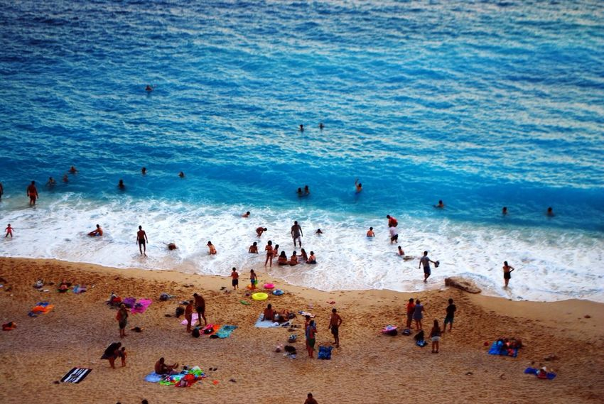 Gerçek kesit Taking Photos Blue Wave Sea The KIOMI Collection The Tourist Travel Turkey Akdeniz People Sea And Sky Kaputaş Mediterranean  Showcase April Beach Kas Antalya Things I Like A Bird's Eye View