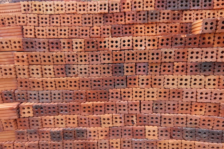 The Wall Full Frame Backgrounds Pattern No People Orange Color Brown Close-up In A Row Wood - Material Large Group Of Objects Textured  Dirt Outdoors Old Nature Shape Repetition Relaxation High Angle View Food And Drink Gardening
