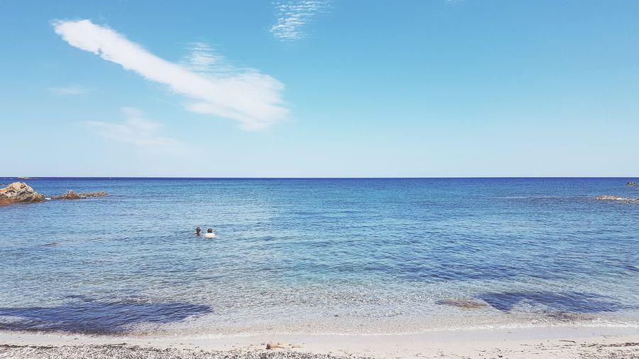 Tranquil Scene Sunny Horizon Over Water Sea Blue Sand Beach Tranquility Heat - Temperature Waterandsky Paradise Beach Beauty In Nature Scenics No People Paradise Lost Sardinia Experience Sardegna😍😍👍👌