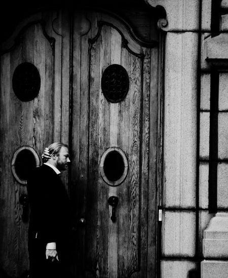 Real People One Person Door Standing Outdoors Lifestyles Day Men Built Structure Building Exterior Architecture Childhood Adult People Adults Only EyeEmNewHere Blackandwhite Blackandwhite Photography