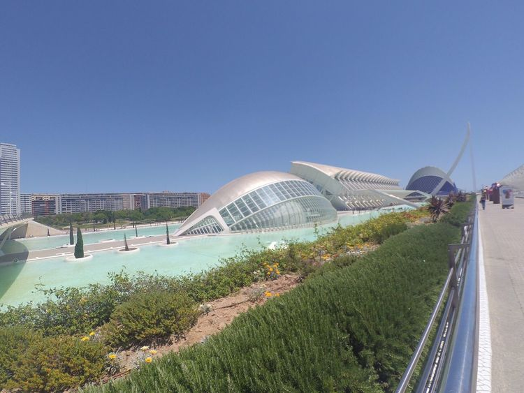 Valencia, Spain Built Structure Travel Destinations Blue Clear Sky Modern Day Outdoors No People Spain♥ Summer España🇪🇸 Nature Relaxing Water Incredible Moments MuseodelasArtesylasCiencias Tourism